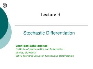Stochastic Differentiation