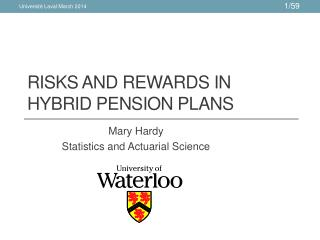 Risks and Rewards in Hybrid pension plans