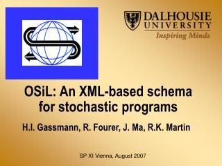 OSiL: An XML-based schema for stochastic programs