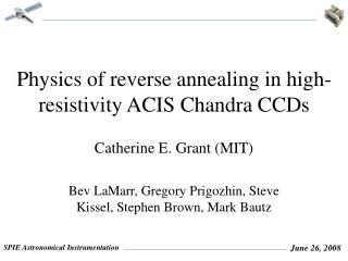 Physics of reverse annealing in high-resistivity ACIS Chandra CCDs