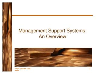 Management Support Systems: An Overview