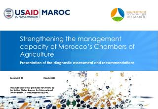 Strengthening the management capacity of Morocco 's Chambers of Agriculture