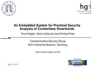 An Embedded System for Practical Security Analysis of Contactless Smartcards