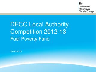 DECC Local Authority Competition 2012-13