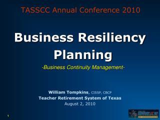 TASSCC Annual Conference 2010