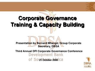 Corporate Governance Training & Capacity Building