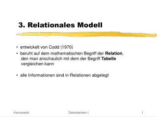 3. Relationales Modell