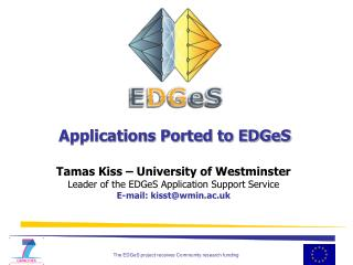 Applications Ported to EDGeS