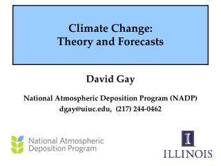 Climate Change:  Theory and Forecasts