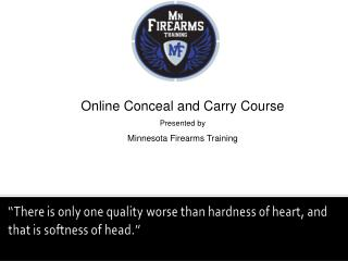 Online Conceal and Carry Course Presented by Minnesota Firearms Training