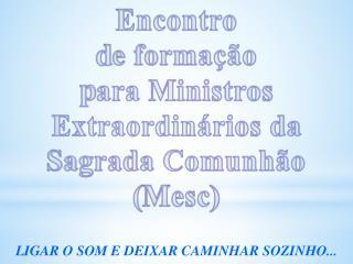 Encontro  d e formação p ara Ministros Extraordinários da Sagrada Comunhão ( Mesc )