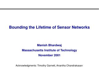 Bounding the Lifetime of Sensor Networks