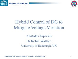 Hybrid Control of DG to Mitigate Voltage Variation