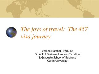 The joys of travel:  The 457 visa journey