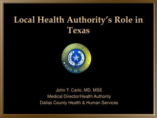 Local Health Authority's Role in Texas