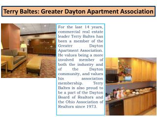 Terry Baltes - Greater Dayton Apartment Association