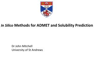 In Silico  Methods for ADMET and Solubility Prediction