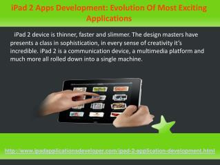 custom ipad 2 app development