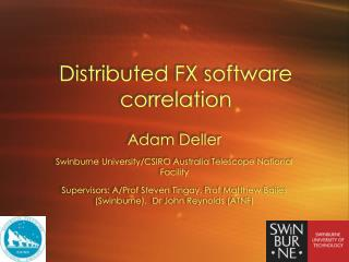 Distributed FX software correlation
