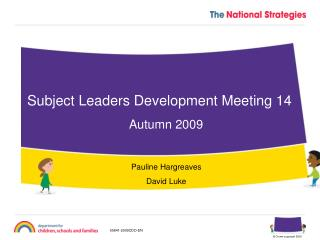 Subject Leaders Development Meeting 14