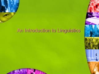 An Introduction to Linguistics