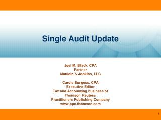 Single Audit Update