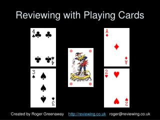Reviewing with Playing Cards