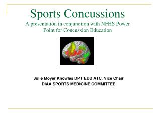 Sports Concussions A presentation in conjunction with NFHS Power Point for Concussion Education
