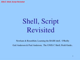 Shell, Script Revisited