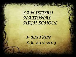 SAN ISIDRO NATIONAL HIGH SCHOOL