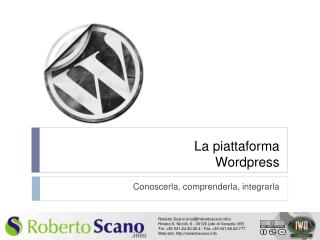 La piattaforma Wordpress