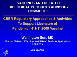 VACCINES AND RELATED BIOLOGICAL PRODUCTS ADVISORY COMMITTEE