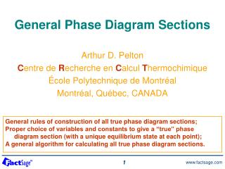 General Phase Diagram Sections