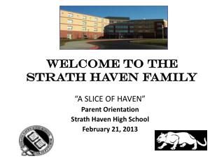 WELCOME TO THE  STRATH HAVEN FAMILY