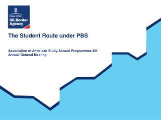 The Student Route under PBS