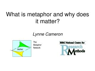 What is metaphor and why does it matter? Lynne Cameron