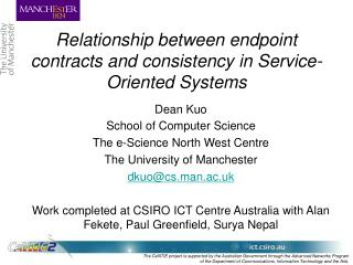 Relationship between endpoint contracts and consistency in Service-Oriented Systems