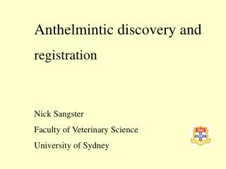 Anthelmintic discovery and registration