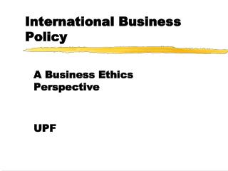 International Business Policy