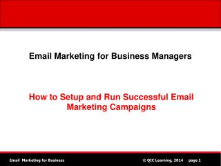 Email Marketing for Business Managers