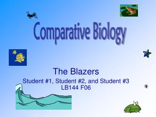 The Blazers Student #1, Student #2, and Student #3 LB144 F06