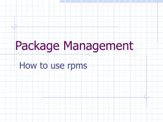 Package Management