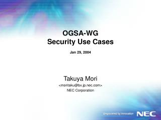 OGSA-WG Security Use Cases Jan 29, 2004