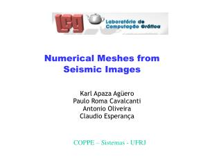 Numerical Meshes from Seismic Images
