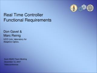 Real Time Controller  Functional Requirements