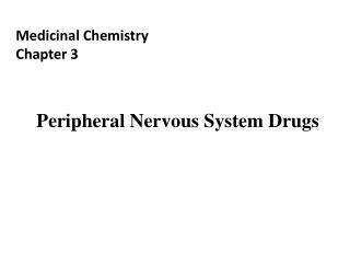 Medicinal Chemistry Chapter 3