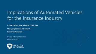 Implications of Automated Vehicles for the Insurance Industry