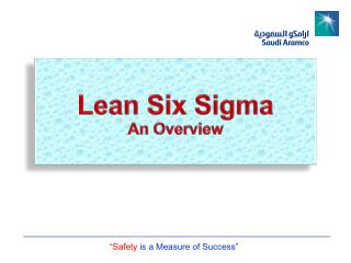 Lean Six Sigma  An Overview