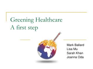 Greening Healthcare A first step