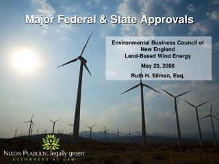 Major Federal & State Approvals